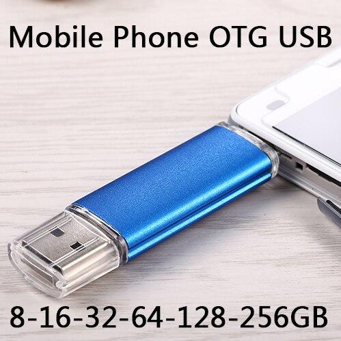 2TB OTG USB Flash Drive 1TB 512G Swivel Memory Stick Music Files Storage Thumb