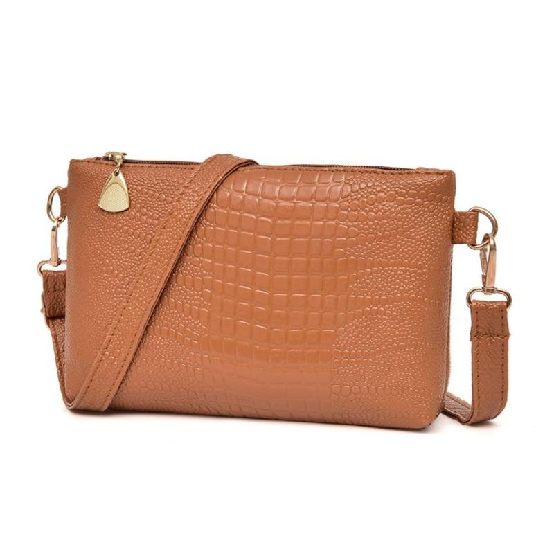 Messenger bag women's   Women Fashion Handbag Crocodile Pattern Shoulder Bag Small Tote Ladies Purse  O0514#3011