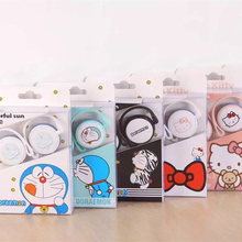Lovely Cute Cartoon Hello Kitty Doraemon 3.5mm Stereo Ear Hook Sport Earphone Kawaii Cat Earbuds For iPhone Samsung MP3(China)
