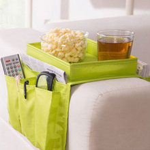 Multifunction 5 Pockets Couch Sofa Organizer Bag Chair Settee Couch Table Top Arm Rest Organizer Tray Storage Bag