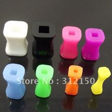 120pcs Free Shipping 6 sizes Wholesale colorful square Acrylic Ear Taper Stretchers Ear Plugs UV Piercing Jewelry Flesh Tunnel