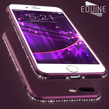 Luxury Diamond Rhinestone Soft Flexible Case Cover for iPhone X 6 6S 7 8 Plus Coque Fundas New Fashion Cases for Girls(China)