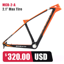 "Buy 19"" Carbon MTB Frame Toray Carbon Mountain Bike 27.5ER 650B Bicycle Framesets for $449.00 in AliExpress store"