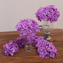 11Pcs/lot Multi Color decorative flower for wedding party luxury artificial Hydrangea silk DIY flower decoration for home(China)