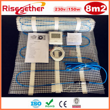 Sale 8m2 230V Self-adhesive Double Conductor Floor Heating Mats 150w/m2 Electric Heat Cable Mat