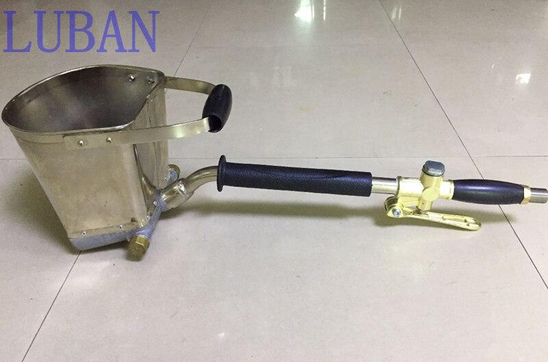 Fast Delivery Mortar Sprayer Wall Mortar Gun,Stucco shovel Cement Spray Gun,Air Stucco sprayer, Plaster Hopper Gun LUBAN<br>