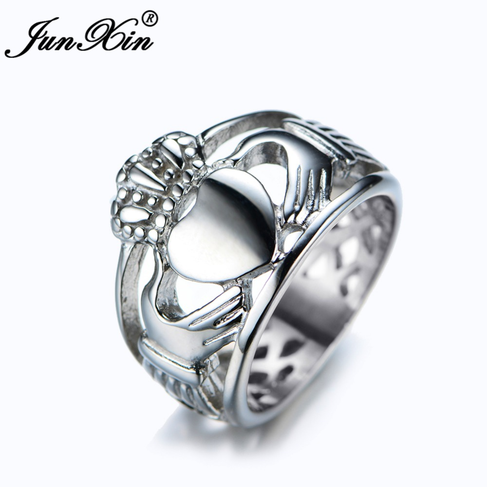 Junxin Male Female Heart Ring 316l Stainless Steel Rings For Men And Women  High Quality Fashion