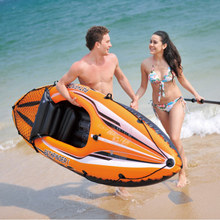 High Quality Single Person Inflatable Canoe Rubber Boat Inflatable Boat(China)