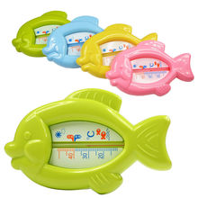 High Quality Baby Floating Fish Water Thermometer Plastic Float Bath Toy Tub Sensor 10-50C W20(China)