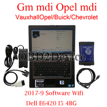 GM MDI Version V2017-9 Work with Dell E6420 I5 4GB Ready to USE Opel MDI For VauxhallOpel/Buick/Chevrolet car diagnostic tool(China)