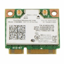Laptop Network Cards GE70 Apache WIFI Card Dual Band Wireless AC 3160 3160HMW Notebook Network Cards VC893 T66
