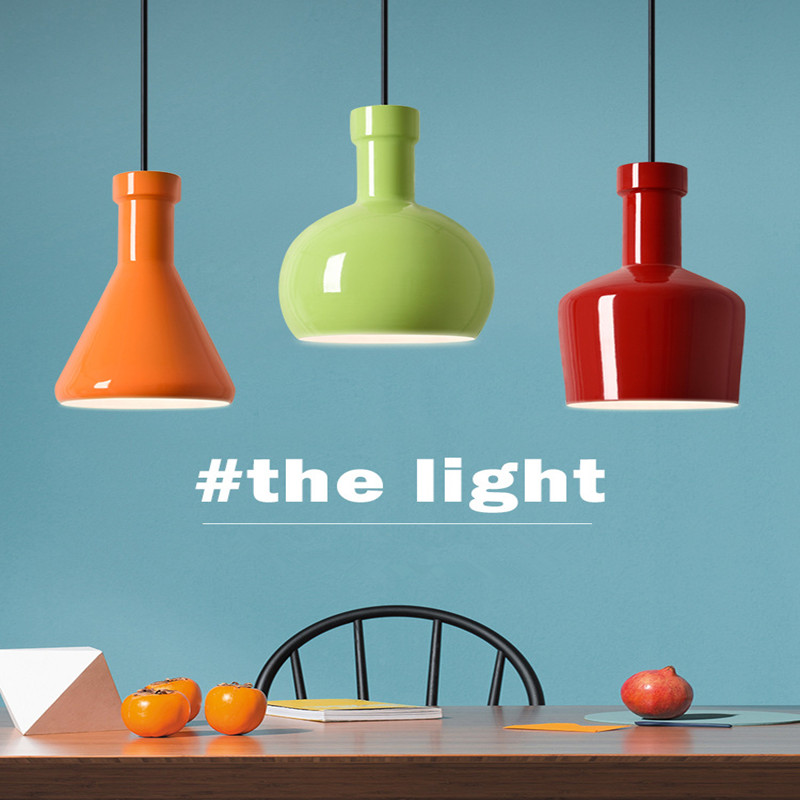 Nordic Living Room Decoration Chandelier Simple Restaurant Lamp Personality Bar Lamp Creative Internet Cafes Lamp Free Shipping<br>