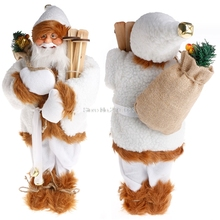 45cm Christmas Present Santa Claus Plush Doll Toy For Merry Xmas Home Decoration Happy New Year Gift #081025#