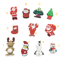 usb 3.0 pen drive pendrive usb flash drive stick 128GB 2.0 Cartoon Christmas Gifts Santa C 64GB 32GB 16GB 8GB 4GB(China)