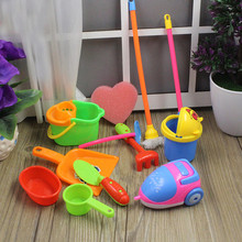 home cleaning tool floor broom toy Toddler doll toy forkid girl pretend play furniture13pcs/set Mini housekeeping brush Children