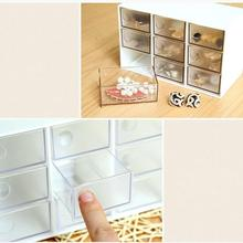 1PC 3 Layers Makeup Organizer Plastic Jewelry Storage Display with Drawers Cosmetic Organizer Cases and Box Office Boxes 3