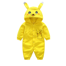 New Spring Autumn Baby Rompers Cute Cartoon Rabbit Infant Girl Boy Jumpers Kids Baby Outfits Clothes Toddler Baby Rompers Roupas