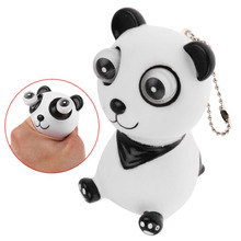 Cute Panda Pop Out Big Eyes Relieve Stress Anxiety Squeeze Toy Keychain Kids Gift