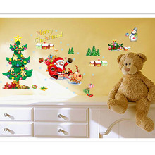 Chrismas Tree DIY Wall Stickers Windows Room Removable Paper Decoration