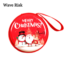 Christmas Theme Storage Box Children Pocket Money Save Wallet New Year Shopping Center Gift Santa Claus Snowman Elk Pattern(China)