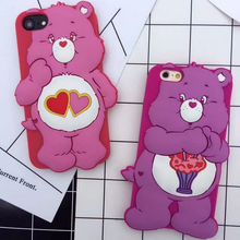 Buy New cute 3D cartoon colorful Rainbow love Bear Soft Silicone phone Case cover iPhone 8 8plus 7 6 6S Plus for $5.60 in AliExpress store