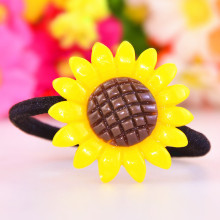 New Fashion Girls Flowers Tie Hair Ropes Women Headwear Rubber Band Baby Sunflowers Styling Hair Ring Children Hair Accessories