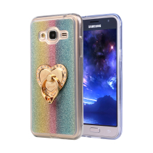 Luxury Glitter Cases For Samsung Galaxy J3 2016 J300 J320F J320A J320P J3109 Silicon Diamond Ring Cover Holder Stand Phone Bags