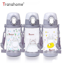 Transhome Totoro Bottle With Straw 480ml Cute Sport Drinking Tritan BPA Free Plastic Children Kid Water Bottle For Outdoor Sport(China)