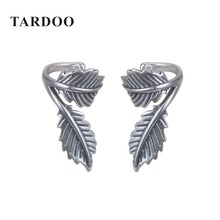 Tardoo Antique 925 Sterling Silver Clip Earring Plant Shape Popular Leaf Earrings Brand Fine Jewelry Spring Collection(China)