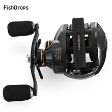 FISHDROPS LB200 17+1 BB Fishing Reel GT7.0:1 Bait Casting Reel Left Right Hand Fishing reel One Way Clutch Baitcasting Reel(China)