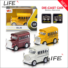 Top Sale Hot Sale Alloy Mini School Bus For Kids Toys Wholesale Metal Cute Duble Bus Models Two Types Choose 1:64 Hot Sale