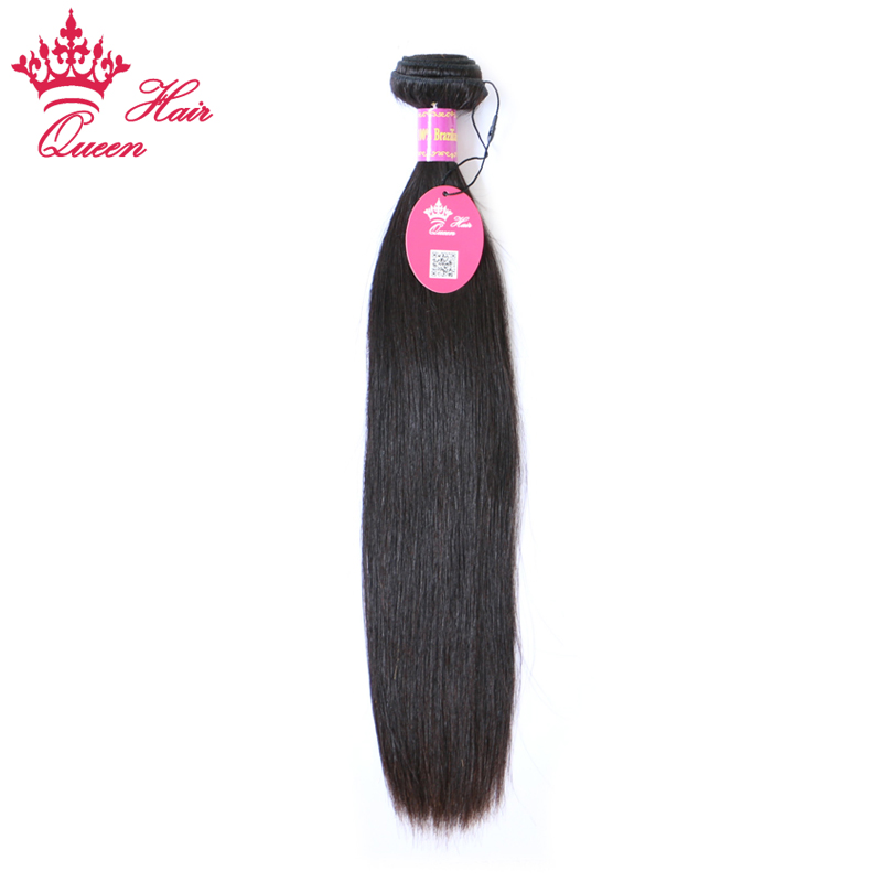 "Queen Hair Products Brazilian Virgin Hair Weaving 1 Piece Straight Human Hair Weft Bundles 10""- 28"" Can Be Dyed Free Shipping(China)"
