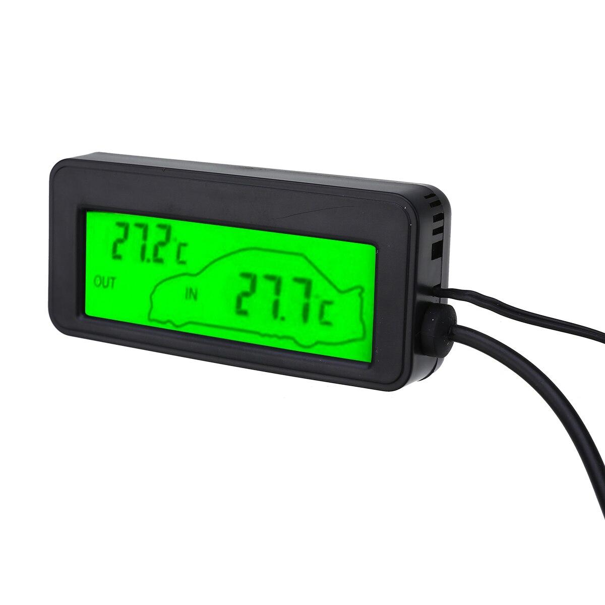 DC12V Car Digital Thermometer LCD Car Inside//Outside Temp Meter Gauge Green