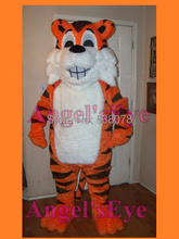 Grinning Tiger Mascot Costume Cute Wild Animals Cat Theme Mascotte Carnival Anime Cosplay Costumes Fancy Dress KITS SW1812