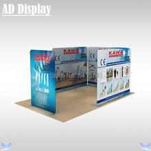 6m*3m Booth Size Tension Fabric Display Banner Stand With Double Side Graphic Printing,Exhibition Portable Advertising Backdrop