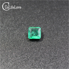 High quality princess cut emerald loose stone SI grade Colombian emerald gemstone 3-5mm natural emerald loose gemstone(China)