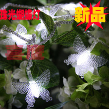 100% NEW christmas supplies garden lights small night light garden lights 5 meters pearl butterfly led string of lights