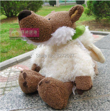 25cm NICI Wolf with White Sheep Cloth Stuffed Plush Toy, Baby Kids Doll Gift Free Shipping(China)