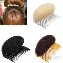 by DHL or EMS 500pcs Hair Styler Volume Bouffant Beehive Shaper Roller Bumpits Bump Foam On Clear Comb Accessories 10001161(China)