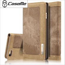 Original CaseMe Phone Cases Bag For Apple iPhone 5 5s SE 6 6S 7 / Plus Case Durable Cowboy Jean Wallet Stand Flip Magnetic Cover(China)