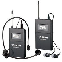 Custom Quantity Transmitter+N Receivers Takstar WTG-500 Wireless Tour Guide System UHF frequency 6selectable channels 100m(China)