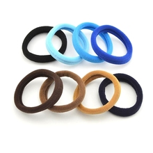 100 Pcs/Lot 5 Cm Rubber Band Gum Hair Coffee Blue Hair Bands Black Hair Holders High Elastic Hair Accessories For Women Girl(China)