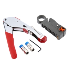 New Professional 3-in-1 518A Coaxial Cable 322A Wire Stripper Compression F Connector High Quality Network Tool Crimping Pliers