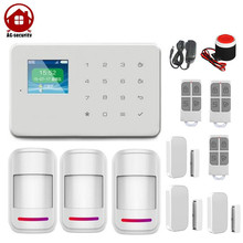 Smart Home Security Touch Screen Panel 1.7 inch TFT wireless auto dial alarm system GSM Alarm System DP-G18 AG-security Factory