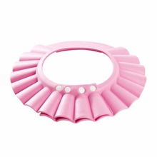 2017 Fashion Adjustable Shower cap protect Shampoo for baby health bathing child kid children Wash Hair Shield Hat
