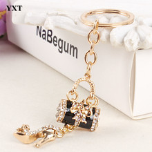 Handbag High-heel Shoe Butterfly Bowknot New Fashion Cute Crystal Pendant Purse Key Ring Chain Wedding Jewelry Great Gift(China)