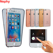 Nephy For iphone 7 5 6 s SE 5S 6S Plus 7Plus 6Plus 6sPlus Case Cover 360 Full Protect Silicon TPU Ultrathin Clear Housing Fundas(China)
