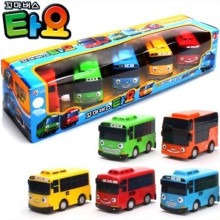 hot sale 1:43 model car 5pcs/set tayo children miniature bus mini plastic babies little tayo toy model bus