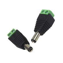 5.5 x 2.1mm DC Power Male Jack Connector Plug DC Male Adapter Plug Connector for CCTV Camera