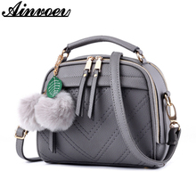 Ainvoev PU Leather Women Messenger Bags Double Zipper Women handbags School Shoulder Bags High Quality Crossbody bag Bolsa a1053(China)